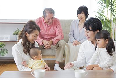 家族と過ごすリビング