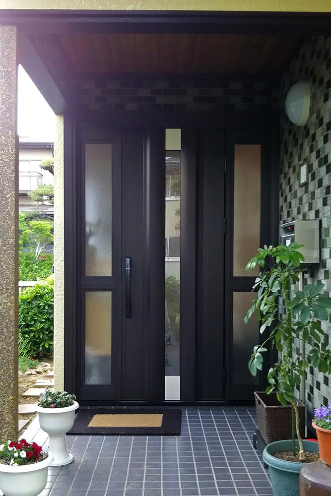 玄関ドアのリフォーム 長野市M様邸