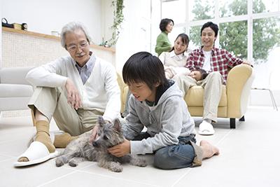 多世帯のリビング