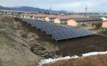 太陽光発電設置工事中